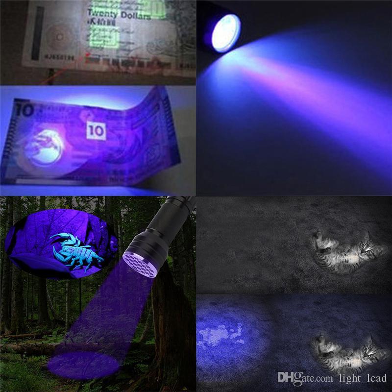 LED UV Flashlight torch UV adhesive curing LED UV Flashlight Multi-function 51 LED Ultraviolet Torch Aluminum Lamp