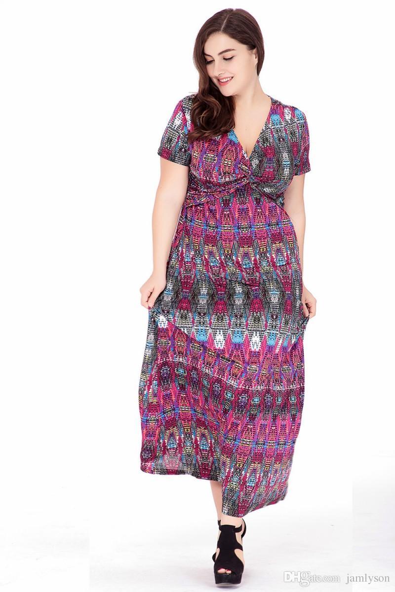 amazon hot summer new plus size dresses women's clothing europe