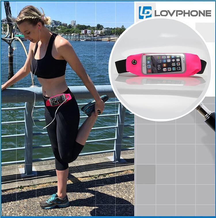 Unisex Waist Belt Zip Pouch Portable Multifunction Sport Waist Bag Pack Belly Bag running Belt Waist Bag for iphone 5 6 7 Plus