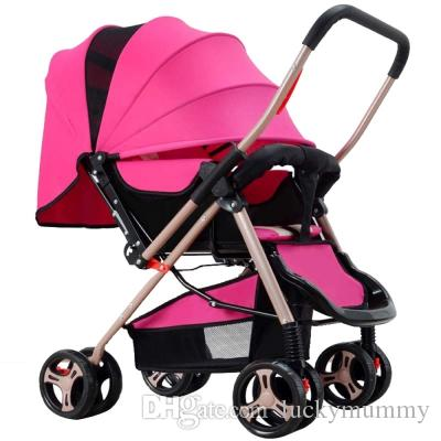 Four Wheel Foldable Pram Baby Stroller Infant Car Seat Safety Chair