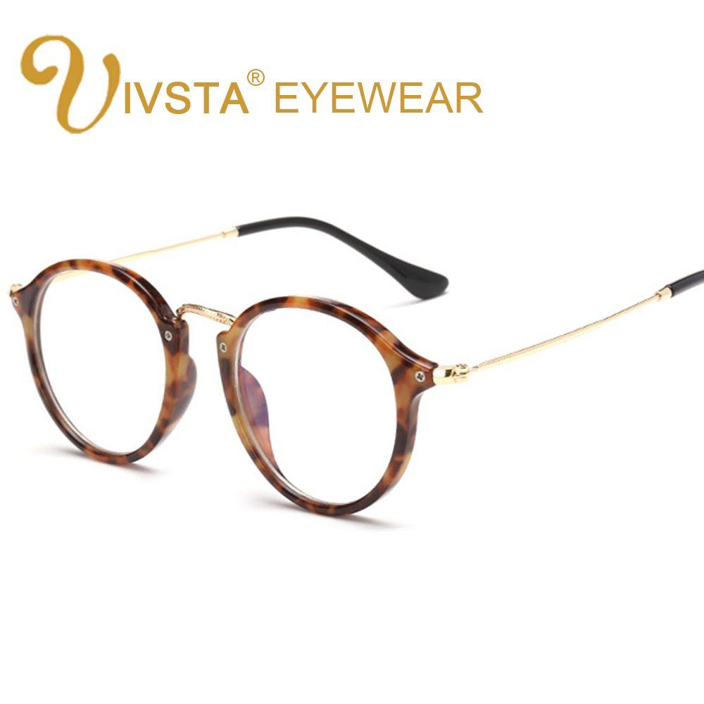2018 Ivsta Round Glasses Mens Tortoise Eyeglass Frames Metal Alloy ...