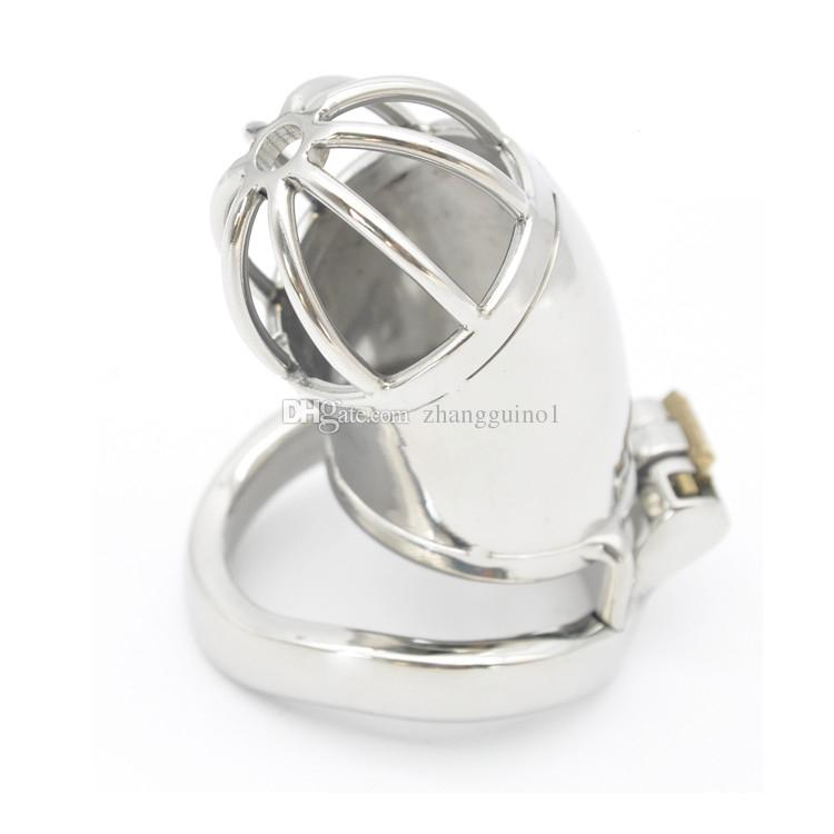 2016 New 40mm 45mm 50mm Lock Stainless Steel Chastity Cock ring Super Small Male Chastity Device chastity cage ring 3 sizes for choose