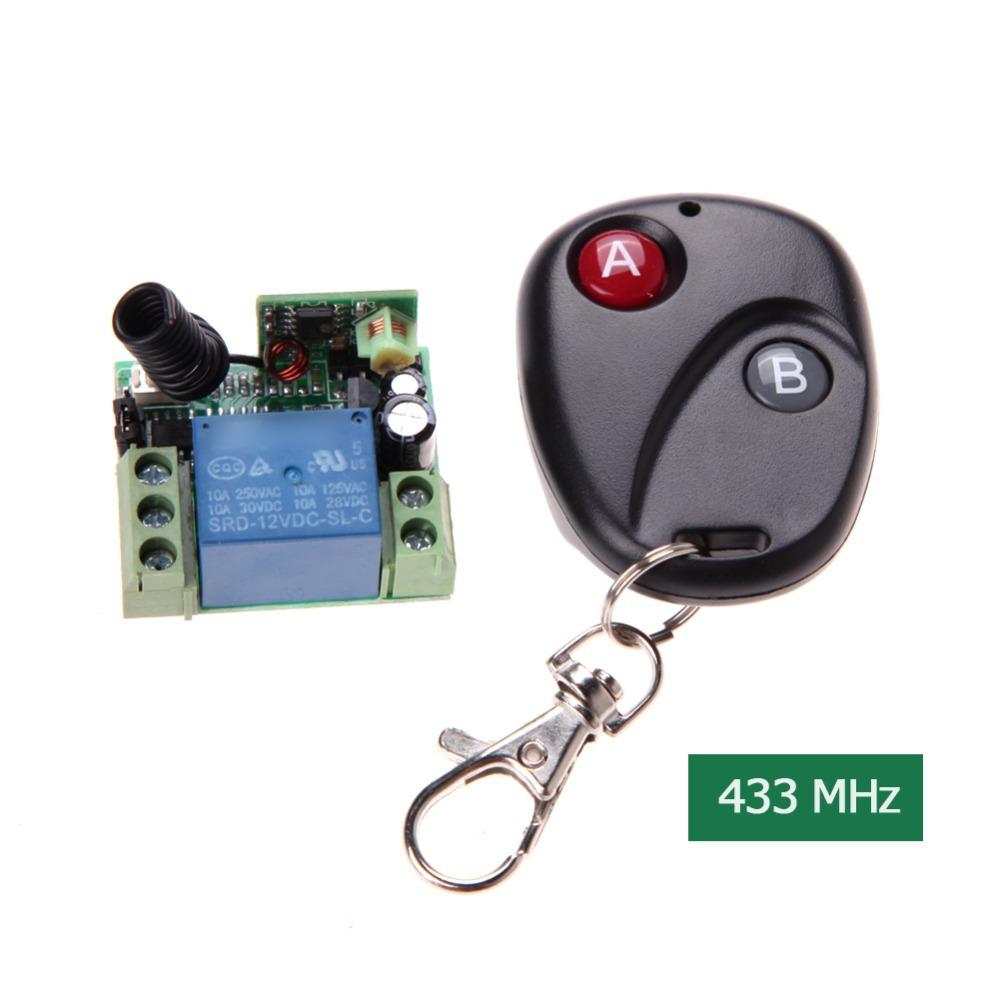 d8ce857d3a9 Wireless Remote Control Switch DC12V 10A 433MHz Telecomando Transmitter  With Receiver Tv Remote Pc Remote From Kunxiu20170219