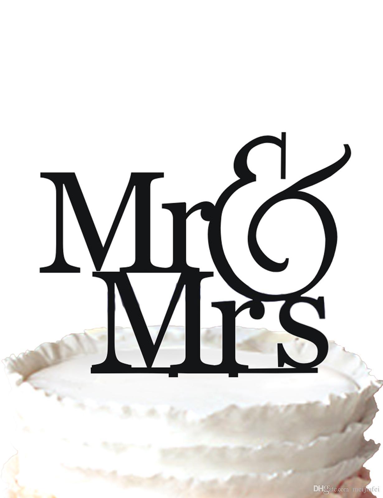 2018 Romantic Wedding Cake Topper Mr & Mrs Silhouette Wedding Cake ...