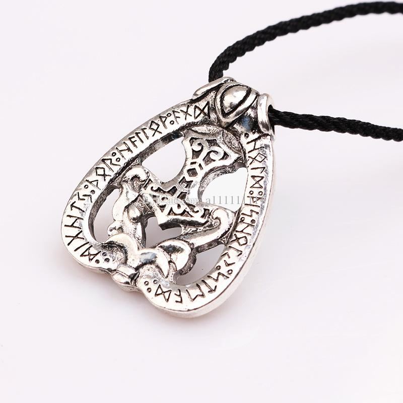 New Hot Superhero Jewelry Necklace Thor's Hammer Pendant Alloy Necklace Retro Movie Accessories Statement Jewelry Gift