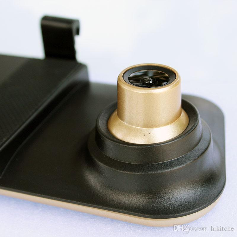 hkt26 المزدوج عدسة الجبهة الخلفية كاميرا 4.3 بوصة كاملة HD 1080P مرآة سيارة DVR مسجل فيديو للرؤية الخلفية