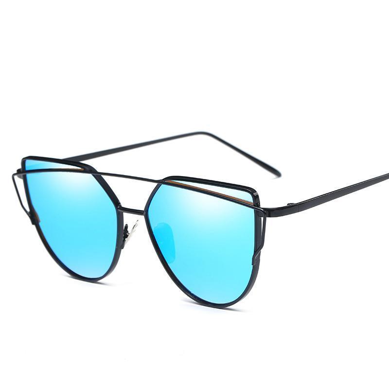 5da66ba27d Retro Women Men Sunglasses Metal Frame Eyewear Cat Eye Designer ...