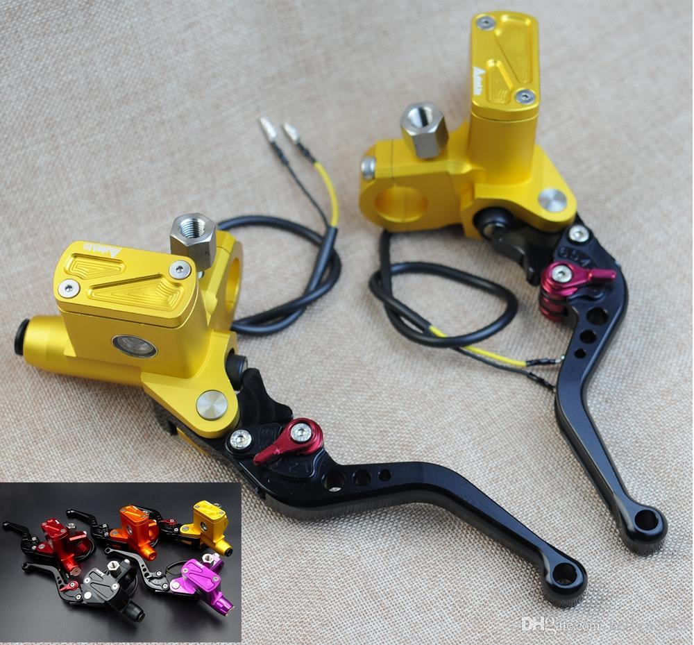 2017 adelin px6 red cnc brake clutch pump master cylinder lever