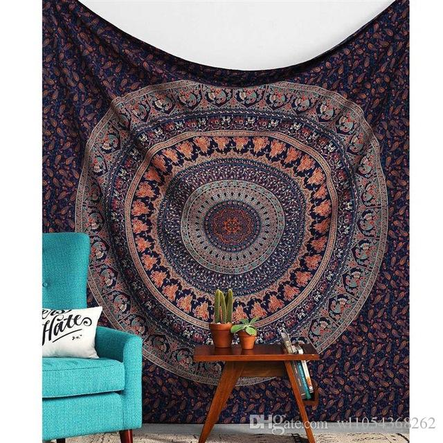 wall hanging indian bohemian mandala tapestry sandy beach picnic throw rug blanket camping tent. Black Bedroom Furniture Sets. Home Design Ideas