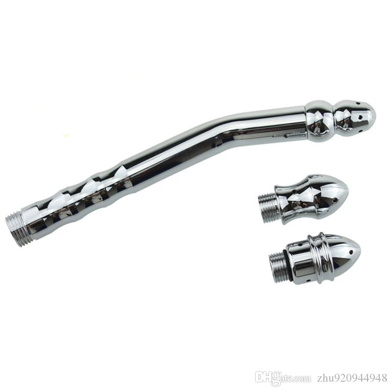 New Shower Enema Water Nozzle 3 style Plug Head Enema Anal Cleaning Kit/Faucet Anal Sex Toy Anal Plug