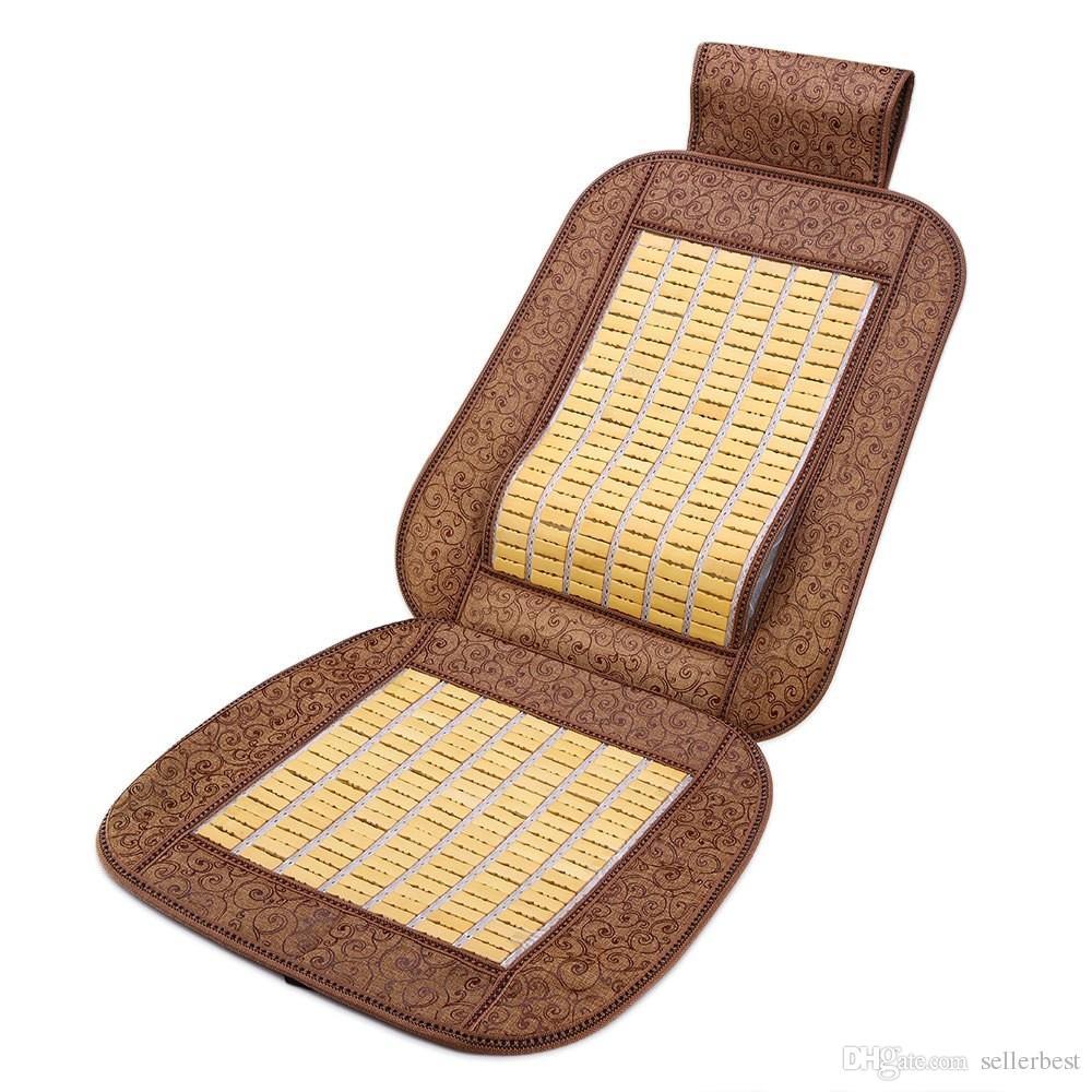 Coussin de siège de voiture en bambou frais, housse respirante, adapté à la plupart des sièges baquets de véhicule pour aider à soulager le stress du travail
