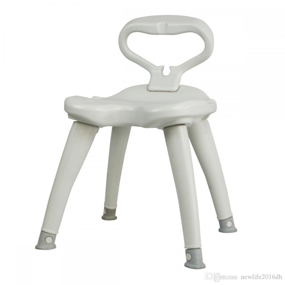 2018 Shower Chair Detachable Backrest Non Slip Feet Hdpe Light ...