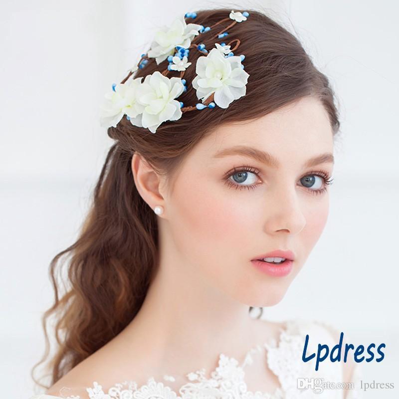 Fairy Nupcial Accesorios para el cabello Flores Accesorios de la boda 2017 Nueva llegada Garden Style Cheap Wedding Accesorios para el cabello