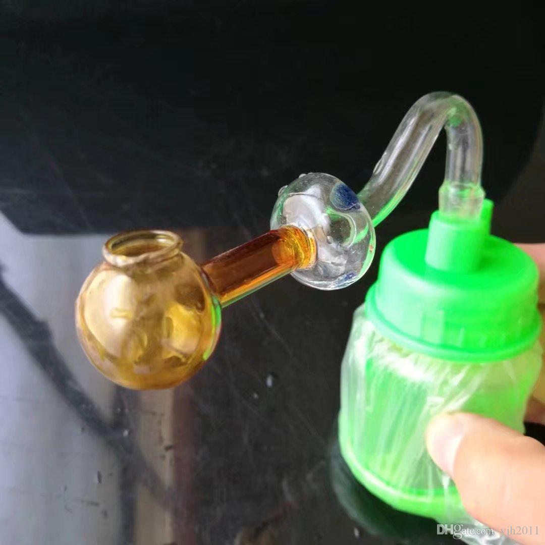 Грибные стеклянные горелок затяжек аксессуары, стеклянный курительные трубки красочного мини-мульти-цвет Ручной Труба Лучшей Ложка стекла трубы