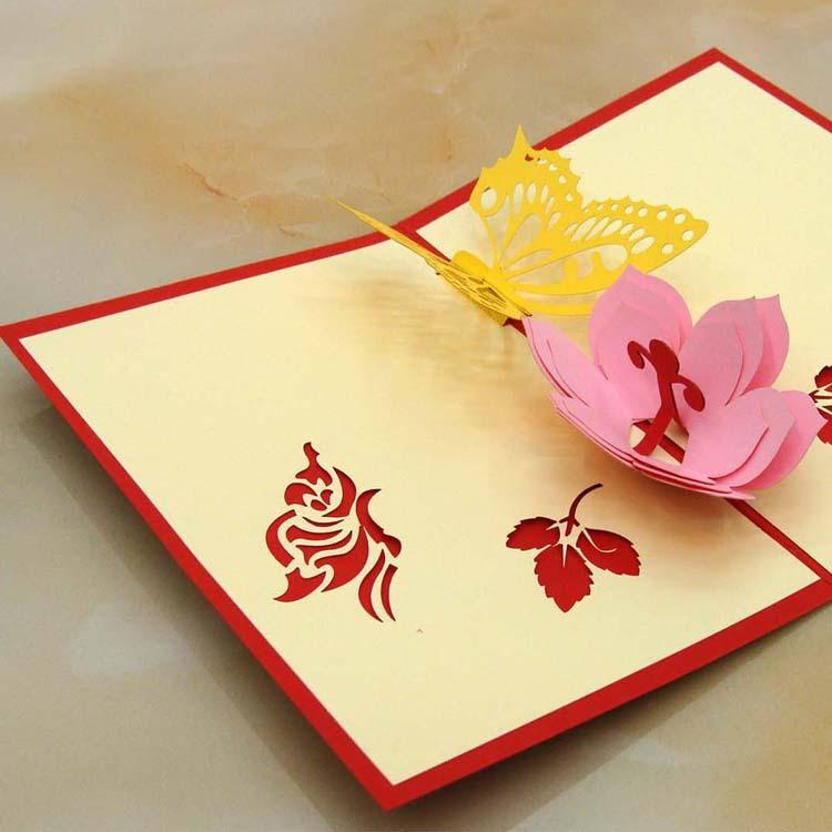 Laser cut wedding invitations korean handmade 3d butterfies flower laser cut wedding invitations korean handmade 3d butterfies flower pop up card cubic valentines day greeting cards photo cards photo greeting card from stopboris Images