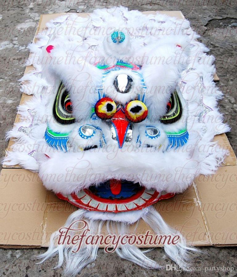 Bamboo Southern Noir Dance Lion de haute qualité Costume de mascotte de la dette de laine de laine de qualité en laine pure de laine sud lion taille adulte costume folk chinois