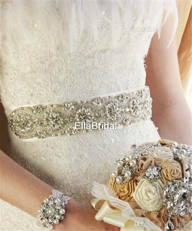 Cintura nuziale di cristallo di cristallo di strass di vetro caldo di alta qualità Nuovo stile Perla abito da sera abito da sposa abito da sposa abito da sposa prom dress back tie back