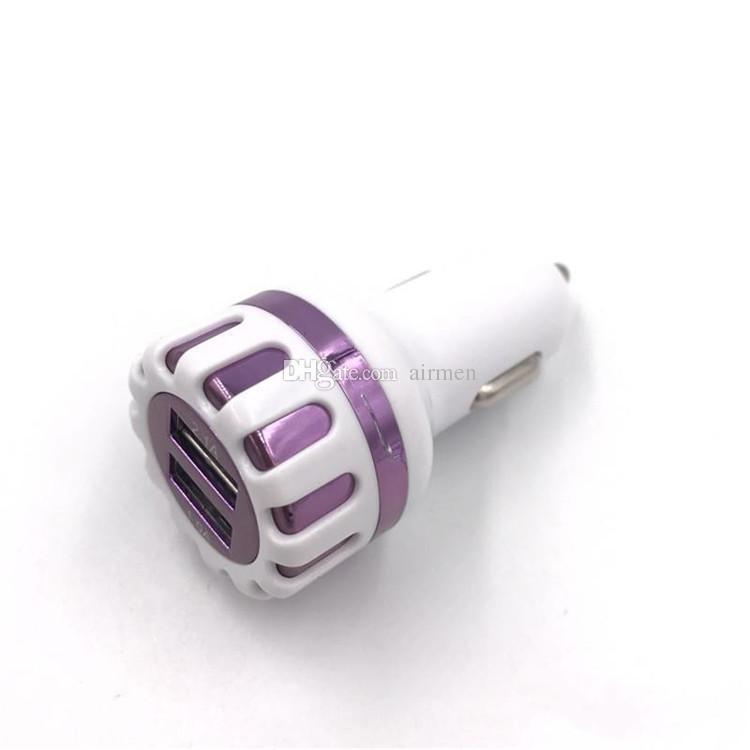 Горячая продажа гальванизирует двойной USB автомобильное зарядное устройство высокоскоростной зарядки зарядное устройство для мобильного телефона Samsung S6 Huawei Xiaomi