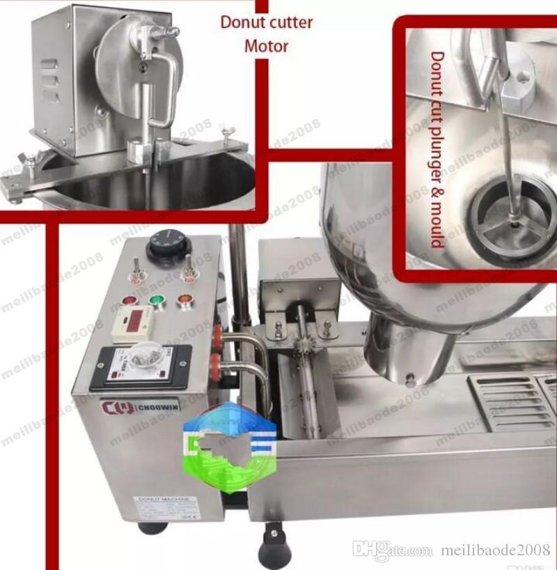 شحن مجاني التجاري الكامل التلقائي آلة دونات 110 فولت 220 3000 واط المقاوم للصدأ دونات صانع تأتي مع 3 العفن MYY