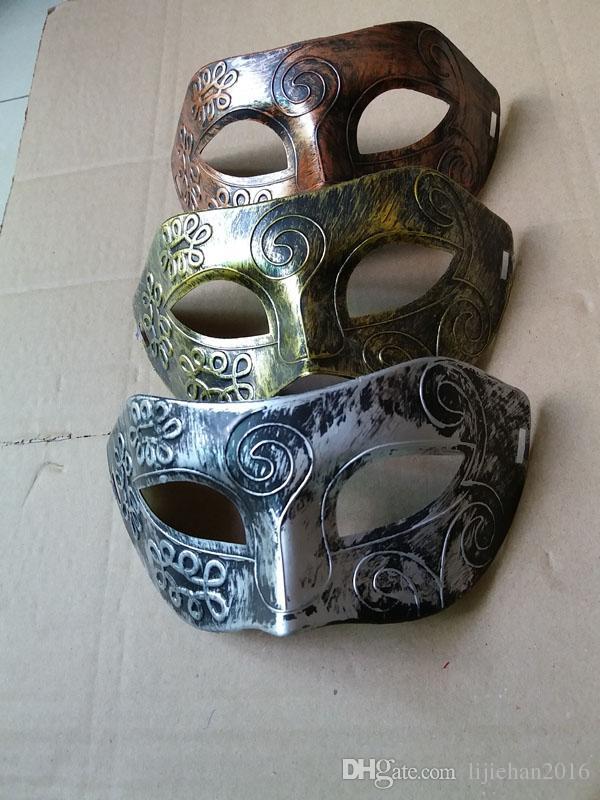 Retro Antique Mask Greek Roman Warrior Men Venetian Mardi Gras Party Masquerade Party Mask- Event Party Ball Mardi Gars