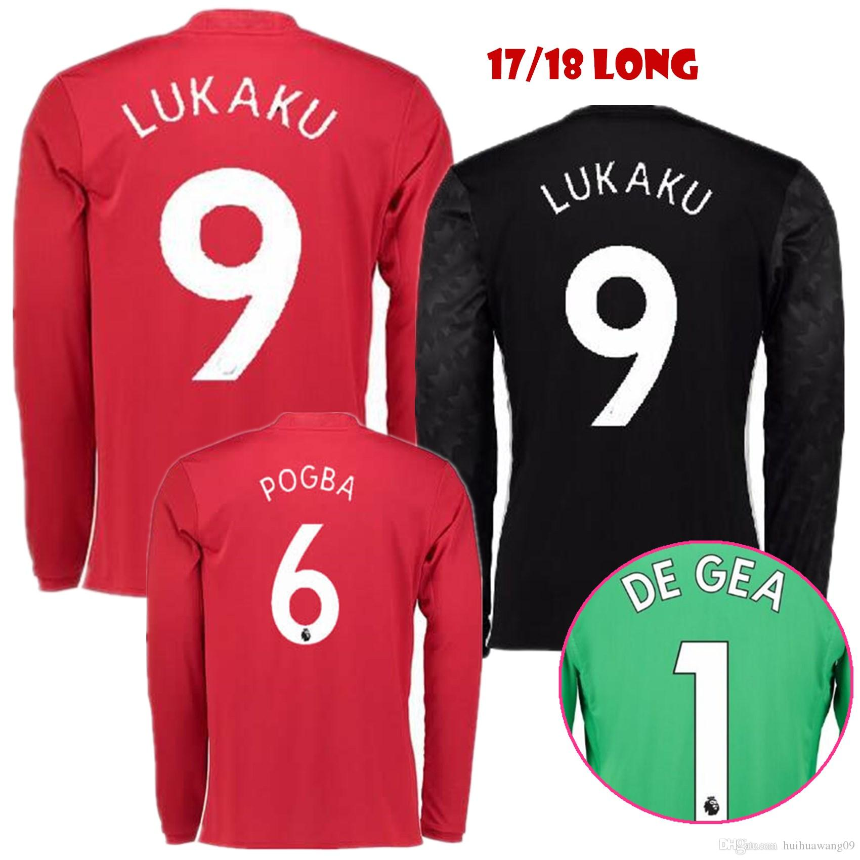 2017 2017 2018 long sleeve united lukaku soccer jerseys carrick man utd jersey 17 18 pogba mens