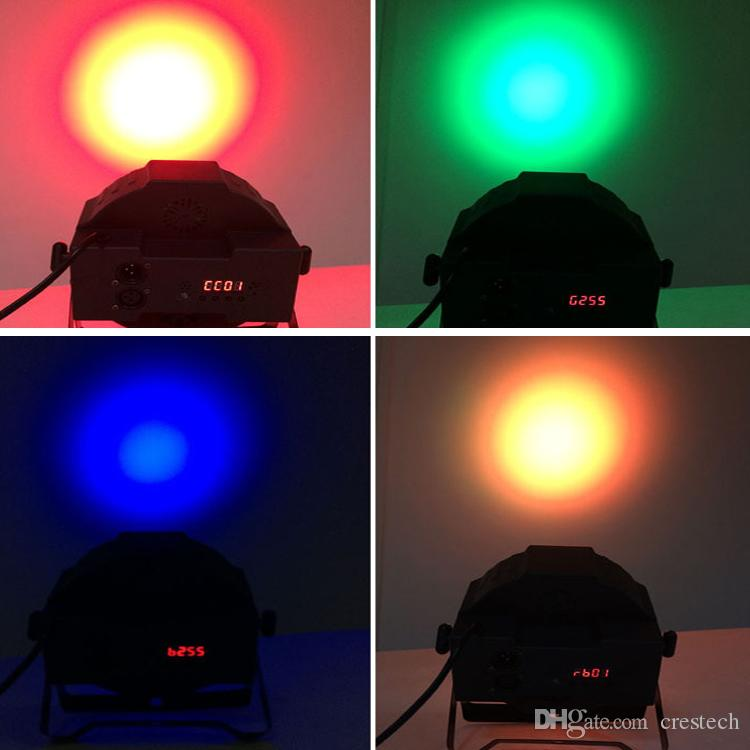 54X3W LED DJ PAR lumière RGBW 162Watt DMX 512 Éclairage de la scène Disco Projecteur pour le mariage à la maison Église Concert Éclairage de piste de danse