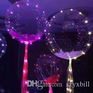 ful LED light Helium balloons Christmas Multi color party decorations children favorite balloon 18 inch