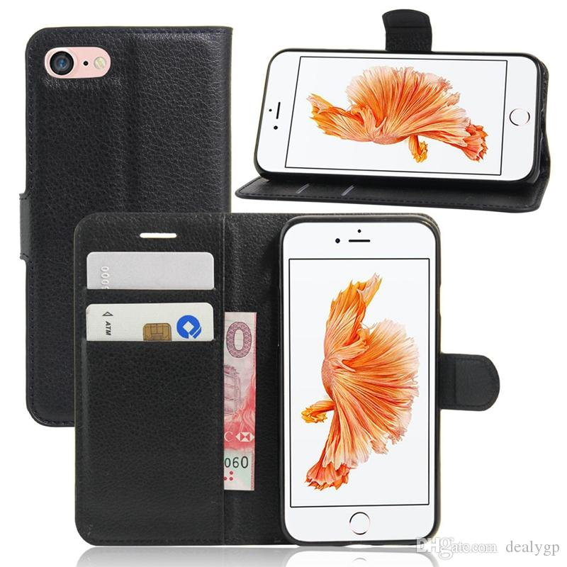 Women Men Wallet Handbags Multifunction Wallet Leather Stand Flip Phone Case Card Slots Bag Pouch for iPhone 7 Plus 7 6s 5
