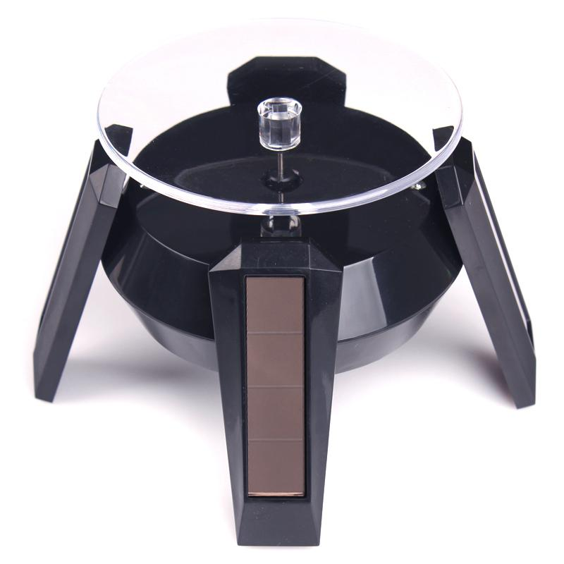 Solar Powered UFO Jewelry Display Stand 360 Rotating Table Plate With LED Light For Phone Bracelet Watch Jewelry Ring Necklace