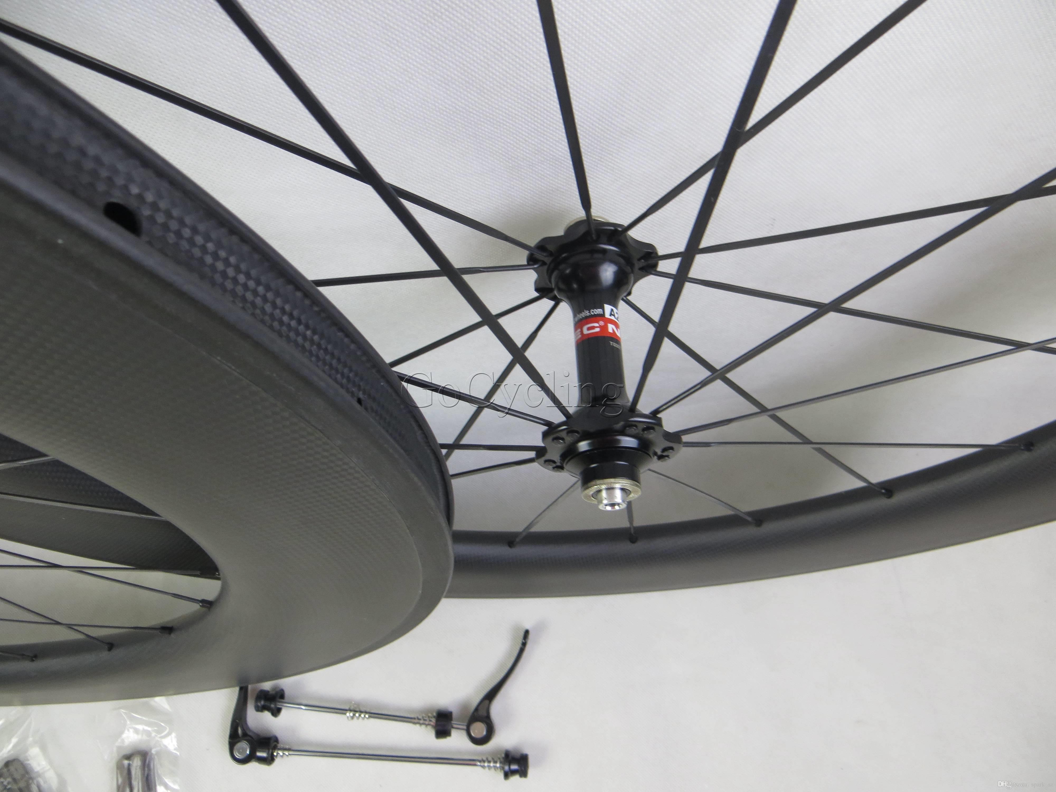 Carbon bicycle wheels 90mm 3K basalt brake surface clincher tubular road cycling bike wheelset with novatec hub width 25mm