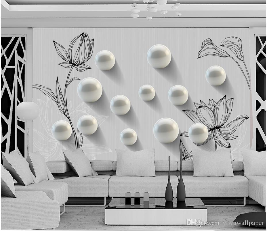 Personalizado qualquer tamanho 3D rodada mão pintado padrão de moda mural papel de parede 3d papel de parede 3d papéis para tv pano de fundo