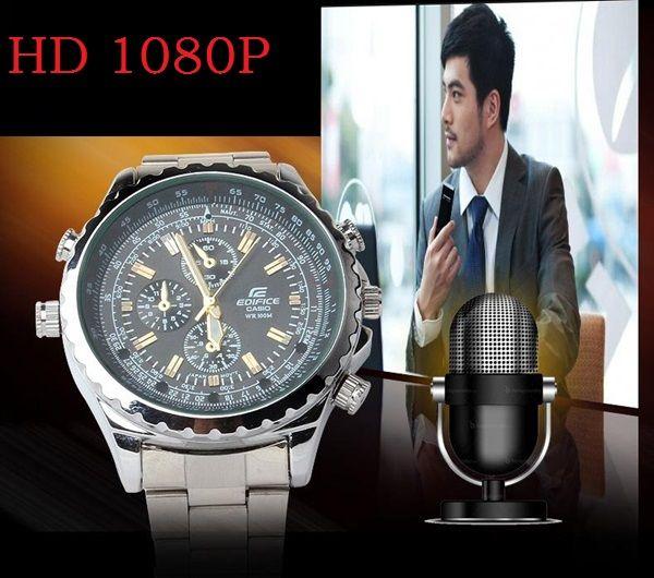 Mini Watch Cameras 1080P 8GB 16GB sottile fotocamera da orologio sottile con visione notturna Audio Voice Recorder movimento al quarzo DVR con scatola al minuto