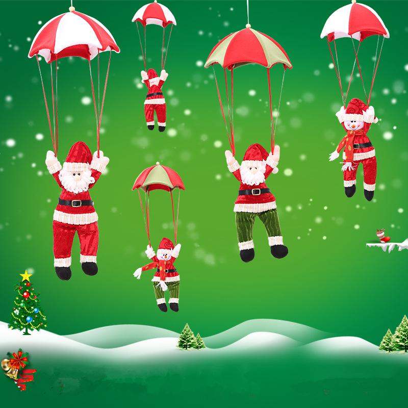 56cm Christmas Home Ceiling Decorations Charm Parachute Santa Claus Snowman New Year Hanging Ornaments Xmas Festival Gift Supplies Discount Outdoor