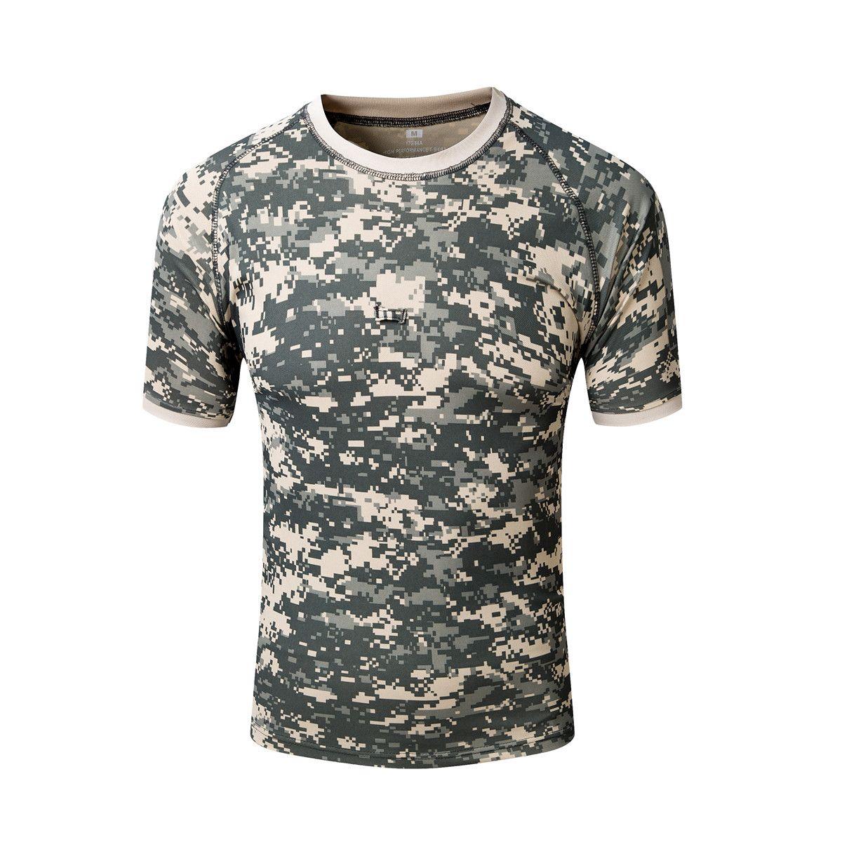 Storia di s Tattica da uomo Gear Military Airsoft Special Ops Camicia da combattimento Camouflage leggero girocollo Quick Dry manica corta TShirt