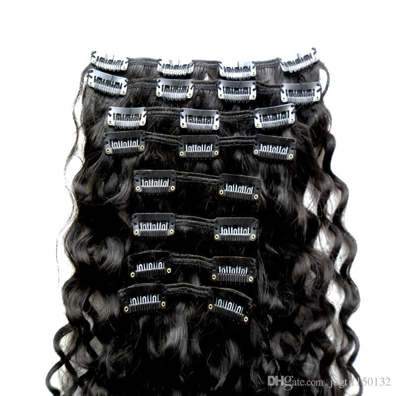 YUNTIAN kinky curly clip ins for black hair afro kinky clip ins 100g hair extension clips for african american hair