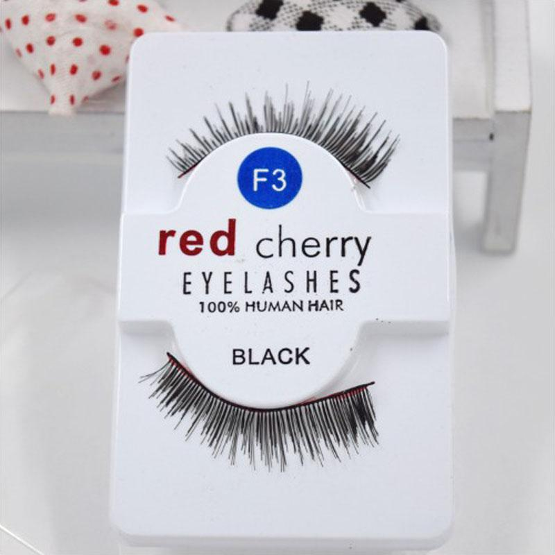 Rouge Chery 27 Designs entièrement fait à la main attaché noir bande transparente naturel long faux cils wispies cils cils de cheveux humains en gros