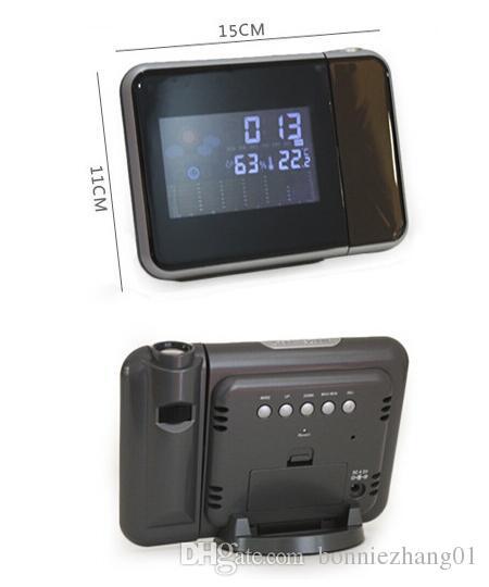 شاشة LCD تعمل باللمس محطة تعمل باللمس درجة الحرارة الرطوبة في الأماكن المغلقة في الهواء الطلق الرطوبة متر دوران ساعة ميزان الحرارة الرقمي