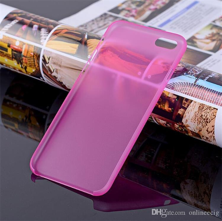 For iphone 7 case ultra thin slim matt clear cases crystal Transparent hard PP PC cover case for iphone 7 plus 6s 6 4 4S 5C 5s se iphone7
