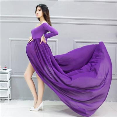 8fdea80a4f6fe 2019 EClouds Hot Maternity Off Shoulder Chiffon Gown Split Front Maxi  Maternity Dress For Photography Optional From Kidplayground, $25.36 |  DHgate.Com