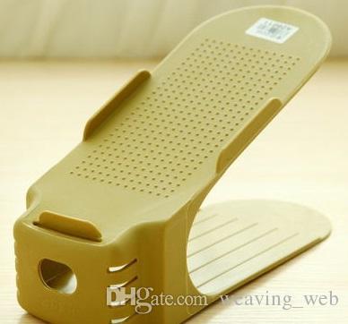 Пластиковые стойки для обуви Двухслойная интегрированная полка для обуви Полка для хранения обуви в современном стиле 25 см Длина 8 цветов