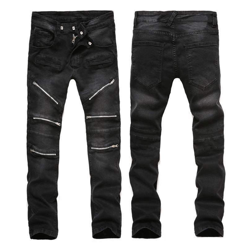 2017 2017 Men Jeans Brand Fashion Skinny Slim Fit Mens Distressed ...