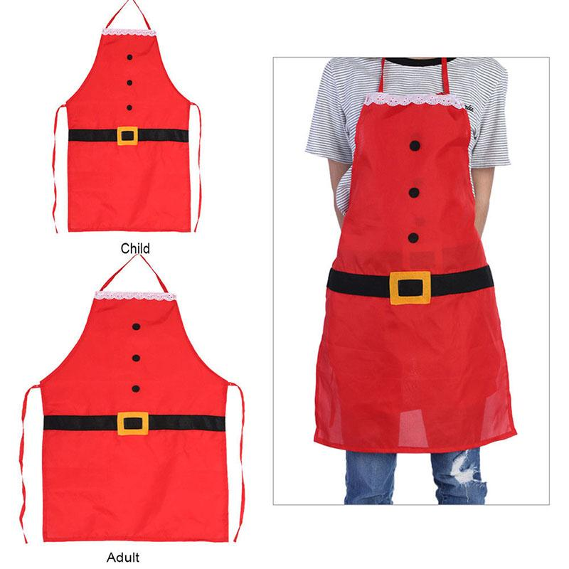 christmas apron xmas kitchen bar home kids adults cooking baking crafting party apron funny gift for the children waitress apron green apron from lumylu - Christmas Apron