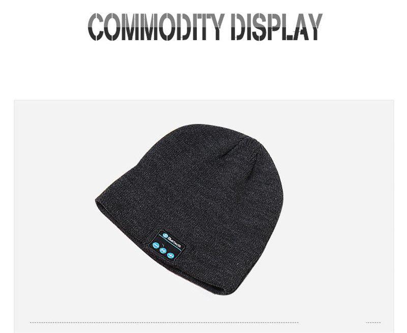 Bluetooth Hat Музыка Beanie Cap Bluetooth V4.1 стерео беспроводные наушники Микрофон громкой связи для всех Смартфонов Музыка Hat
