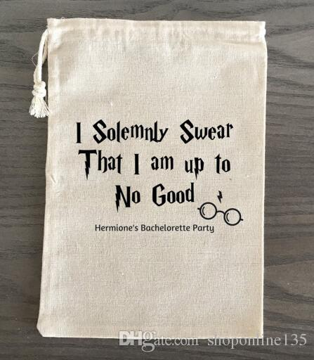 Custom Harry Potter Wedding Survival Kit Muslin Favor Gift Bags ...