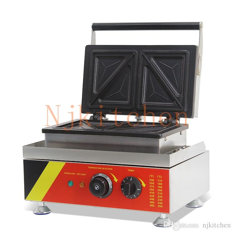 Commercial Use Non Stick 110v 220v Electric Sandwich Maker Machine Baker Toaster Press Grill Equipment