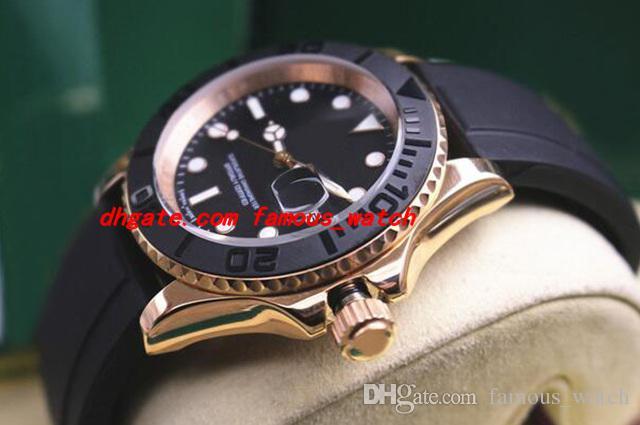 Luxus Armbanduhr 40mm Black Dial Dot Rose Gold Lünette Männer Watch 116655 Automatische mechanische Männer Uhren Top Qualität