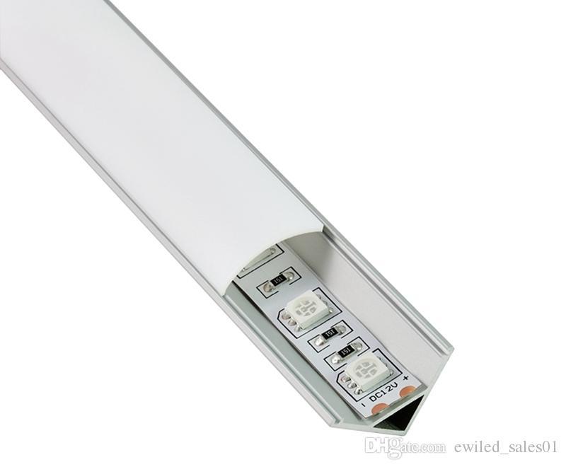 50 X 2M setsV shape aluminum profile for led 60 degree corner aluminium led extrusions for led cabinet lights
