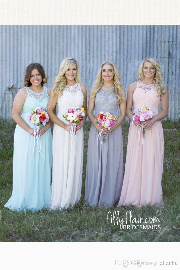 2017 cheap spring summer plus size country bridesmaid dresses lace 2017 cheap spring summer plus size country bridesmaid dresses lace top high waist maternity chiffon long garden beach dresses wedding party lace bridesmaids ombrellifo Choice Image