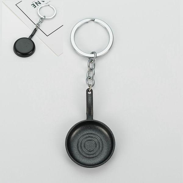 Moda Yaratıcı Kişiselleştirilmiş Lüks Tencere Anahtarlık Manuel metal Güveç Anahtarlık Araba Anahtarlık Pot Anahtarlık Doğum Günü Hediyesi Erkekler Için