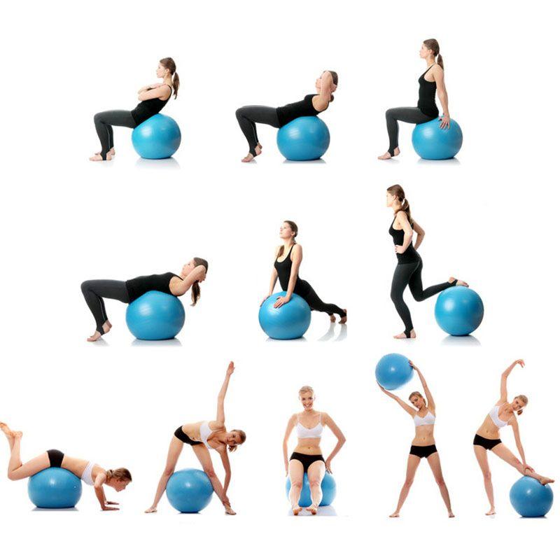 Bola de ejercicio Bola de yoga anti-explosión Bola de equilibrio para Pilates, Yoga, Entrenamiento de estabilidad y Fisioterapia Bolas de ejercicios de 45 cm a 95 cm